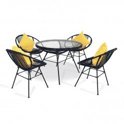 Комплект Acapulco (стол круглый + 4 кресла)
