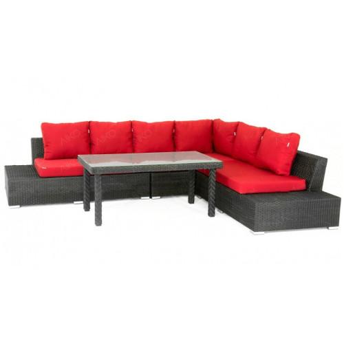 КОМПЛЕКТ Ava (секции боковые левая, правая, угловая правая + стол кофейный)