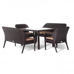 Комплект Buff (стол прямоугольный + 2 софы + 2 кресла)