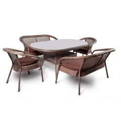 Комплект Camellia (стол овальный + 2 двухмест.софы + 2 кресла)