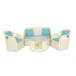 Комплект Cobeya (стол кофейный + софа 2-х местная + 2 кресла)