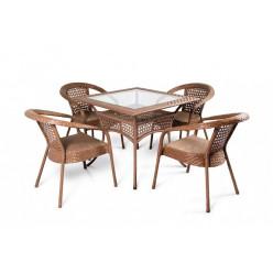 Комплект Deco/4 (квадратный стол + 4 кресла)