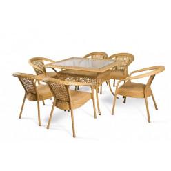 Комплект Deco/6 (прямоугольный стол + 6 кресел)