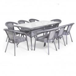 Комплект Deco/8 (прямоугольный стол + 8 кресел)