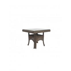 Стол Korilius обеденный квадратный c деревянной столешницей