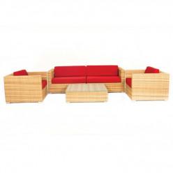 Комплект Lavatera (стол кофейный + секции бок.левая, правая + кресло)