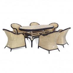 Комплект Magda - 6 (стол овальный + 6 кресел)