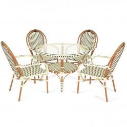 Комплект Paris (стол круглый + 4 кресла)