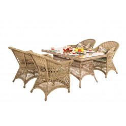 Комплект столов и стульев из ротанга SALAM